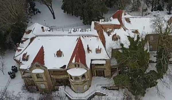 Το Τατόι, όπως δεν το έχετε ξαναδεί: Χιονισμένο, από ψηλά