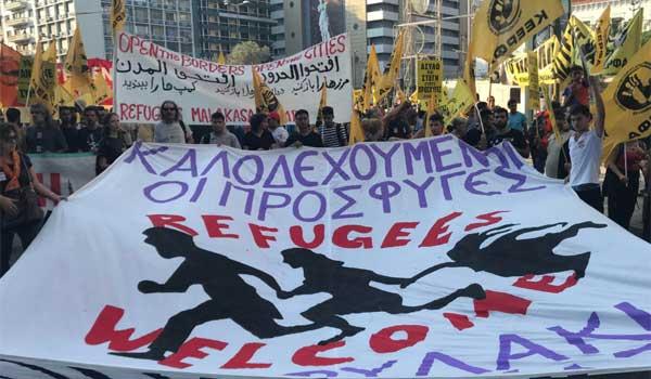 Αντιφασιστική συγκέντρωση στο κέντρο της Αθήνας. Βίντεο