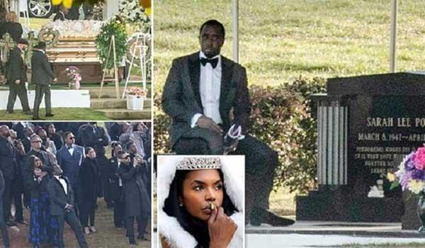 Συντετριμμένος ο ράπερ Diddy στην κηδεία της πρώην συζύγου του, Kim Porter
