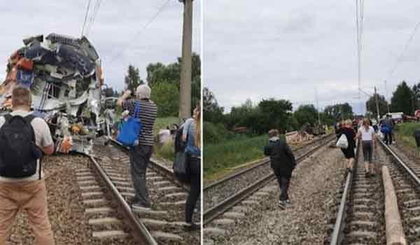 Ένας νεκρός και 27 τραυματίες από σύγκρουση τρένου με φορτηγό στην Πολωνία