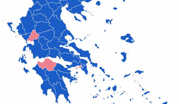 Συντριπτική νίκη της ΝΔ σε 12 από τις 13 περιφέρειες - Ποιοι εκλέγονται