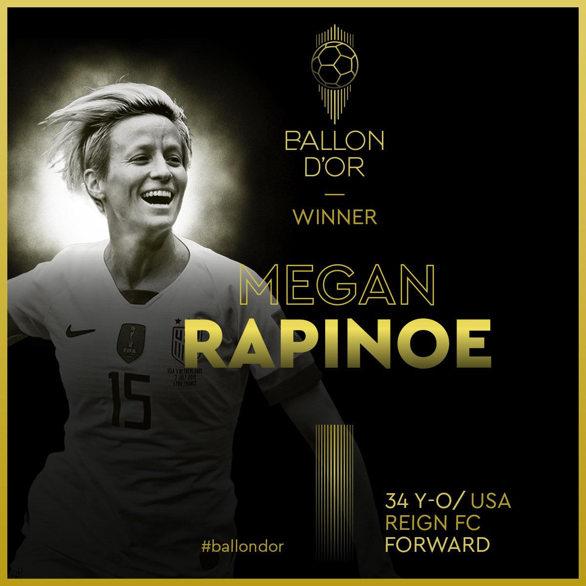 Χρυσή Μπάλα 2019: Κορυφαία γυναίκα η Ράπινο, η αρχηγός των ΗΠΑ