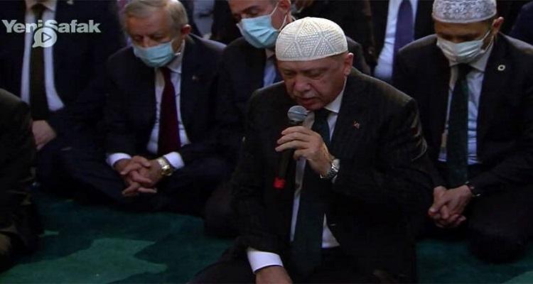 Η Αγιά Σοφιά ήταν και έγινε ξανά τζαμί - Σόου Ερτογάν και η κίνηση του Ιμάμη με το Οθωμανικό Ξίφος