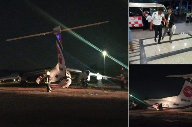 Μιανμάρ: Επιβατικό αεροπλάνο κόπηκε στα τρία κατά την προσγείωση