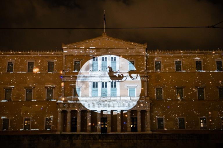 Νέες εκπληκτικές προβολές του εντυπωσιακού 3D projection mapping στη Βουλή! Βίντεο