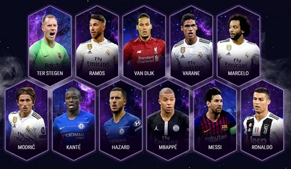 UEFA: Αυτή είναι η κορυφαία ενδεκάδα για το 2018
