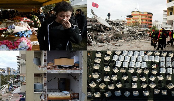 Σεισμός - Αλβανία: Συγκλονίζουν οι εικόνες - Ξεκληρίστηκαν οικογένειες, θρήνος στις κηδείες