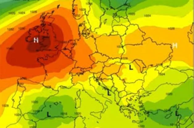 Καιρός: Αντικυκλώνας με τιμές-ρεκόρ στην Ευρώπη φέρνει ξηρούς βοριάδες στην Ελλάδα
