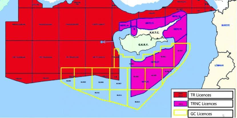 Εξαφανισμένη η ελληνική υφαλοκρηπίδα και η κυπριακή ΑΟΖ από επίσημους χάρτες του τουρκικού ΥΠΕΞ