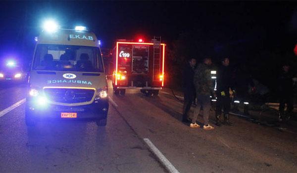 Ανατροπή οχήματος με 14 πρόσφυγες τραυματίες