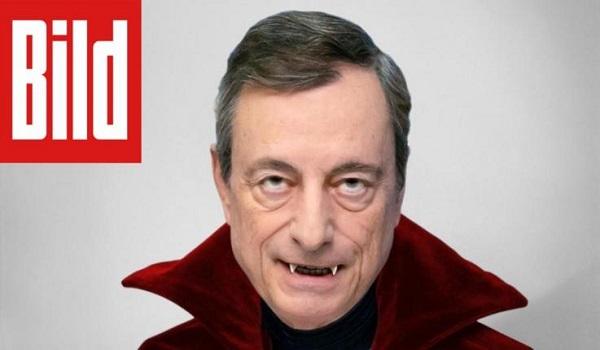 Bild κατά Ντράγκι: Ο κόμης Ντράγκουλας της ΕΚΤ ρουφάει το αίμα των καταθέσεών μας