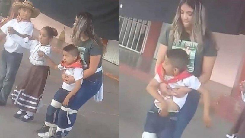 Δασκάλα συγκίνησε όταν έδεσε στο σώμα της μαθητή με κινητικά προβλήματα και χόρεψαν μαζί