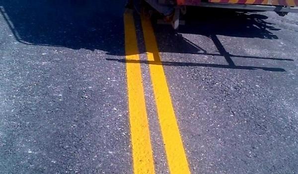 Ανεπανάληπτη ασφαλτόστρωση και διαγράμμιση οδού στο Ρέθυμνο