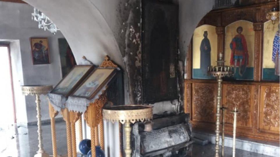 Σοβαρές ζημιές σε εκκλησία στην Κρήτη μετά από φωτιά