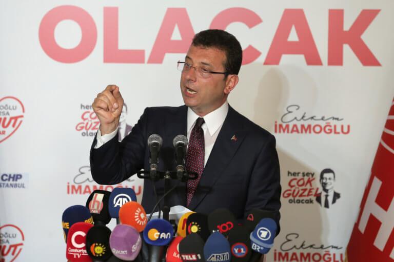 Ιμάμογλου: Ευχαριστώ στους Έλληνες και αυστηρό μήνυμα στον Ερντογάν