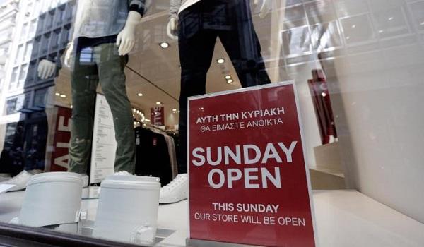 Ανοιχτά τα καταστήματα αύριο  Κυριακή 15 Ιουλίου