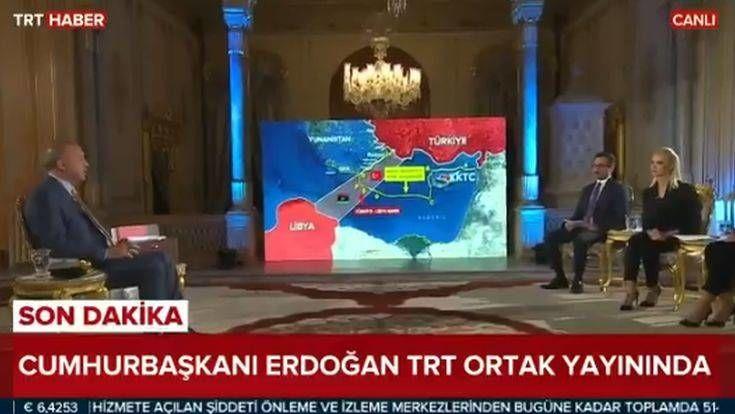 Ερντογάν: Οι χάρτες με τις γεωτρήσεις ανοιχτά της Κρήτης και τη νέα τουρκική υφαλοκρηπίδα