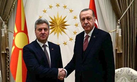 Χτύπημα Ερντογάν και στο Σκοπιανό. Στήριξε τις αδιάλλακτες θέσεις του προέδρου Ιβάνοφ