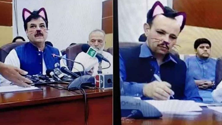 Πολιτικός έγινε viral. Έκανε ζωντανή μετάδοση της ομιλίας του χρησιμοποιώντας το φίλτρο γάτας