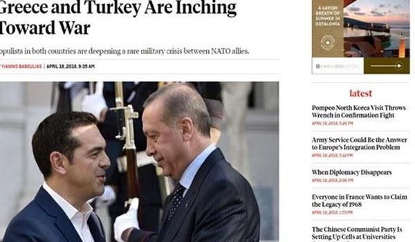 Άρθρο-σοκ του Foreign Policy: Ελλάδα και Τουρκία διολισθαίνουν προς τον πόλεμο