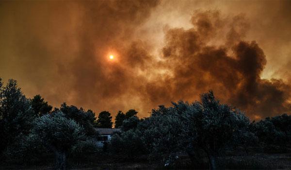 Μαίνεται ανεξέλεγκτα η φωτιά στην Εύβοια. Σε κατάσταση έκτακτης ανάγκης η περιοχή