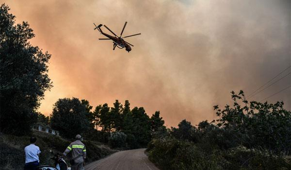 Εύβοια: Μάχη με τις φλόγες - Αναζωπύρωση στο Μακρυμάλλη