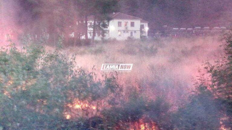 Λαμία: Συναγερμός από φωτιά κοντά στο hotspot των Θερμοπυλών
