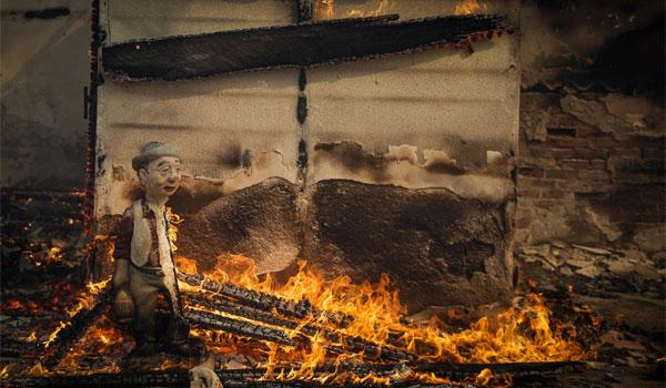 Κρανίου τόπος η Κινέτα. Εικόνες βιβλικής καταστροφής από την πυρκαγιά