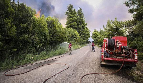 Φωτιά σε δασική έκταση ορεινής περιοχής των Καλαβρύτων