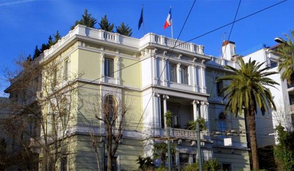 Επίθεση του Ρουβίκωνα με μπογιές στη γαλλική πρεσβεία