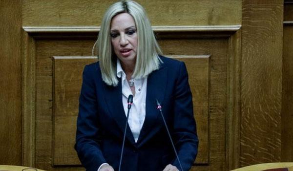 Γεννηματά: Η Κυβέρνηση αποτυγχάνει να αντιμετωπίσει την Τουρκική επιθετικότητα