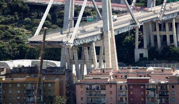 Χωρίς συντήρηση για 25 χρόνια τμήματα της γέφυρας της Γένοβας