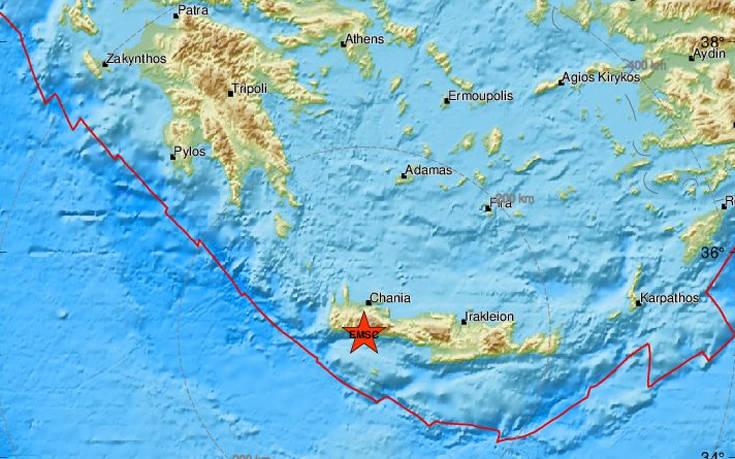Ισχυρός σεισμός τώρα στην Κρήτη. Ήταν επιφανειακός με βάθος μόλις 2 χλμ