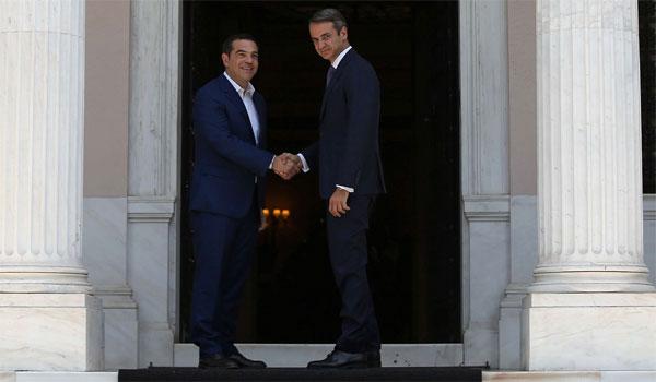 Ορκίστηκε πρωθυπουργός ο Μητσοτάκης. Παράδοση - παραλαβή από τον Τσίπρα