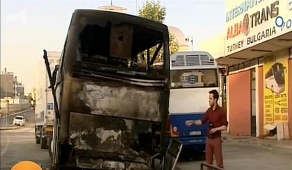Εμπρησμός τουριστικού λεωφορείου αλβανικής εταιρείας