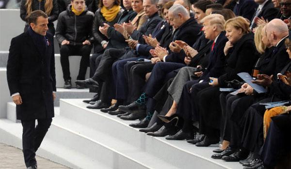 Μήνυμα Μακρόν σε Τραμπ και Πούτιν για τον κίνδυνο του εθνικισμού
