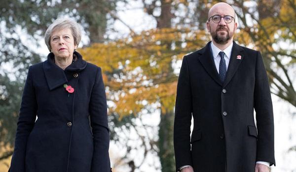 Αυτοκίνητο έπεσε στην αυτοκινητοπομπή που μετέφερε τους πρωθυπουργούς της Βρετανίας και το Βελγίου