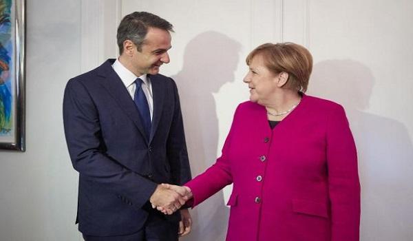 Μητσοτάκης: Δεν θα κυρώσουμε τη συμφωνία των Πρεσπών - Μέρκελ: Διαφορετικές γνώμες