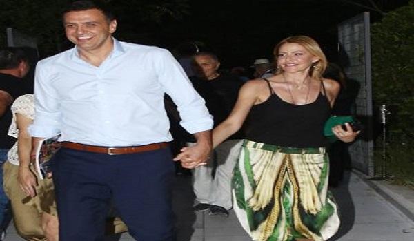 Τζένη Μπαλατσινού - Βασίλης Κικίλιας: Βραδινή έξοδος στο θέατρο για το νιόπαντρο ζευγάρι
