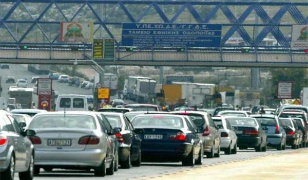 Απίστευτο μποτιλιάρισμα στην Αττική οδό στην έξοδο προς Λαμία