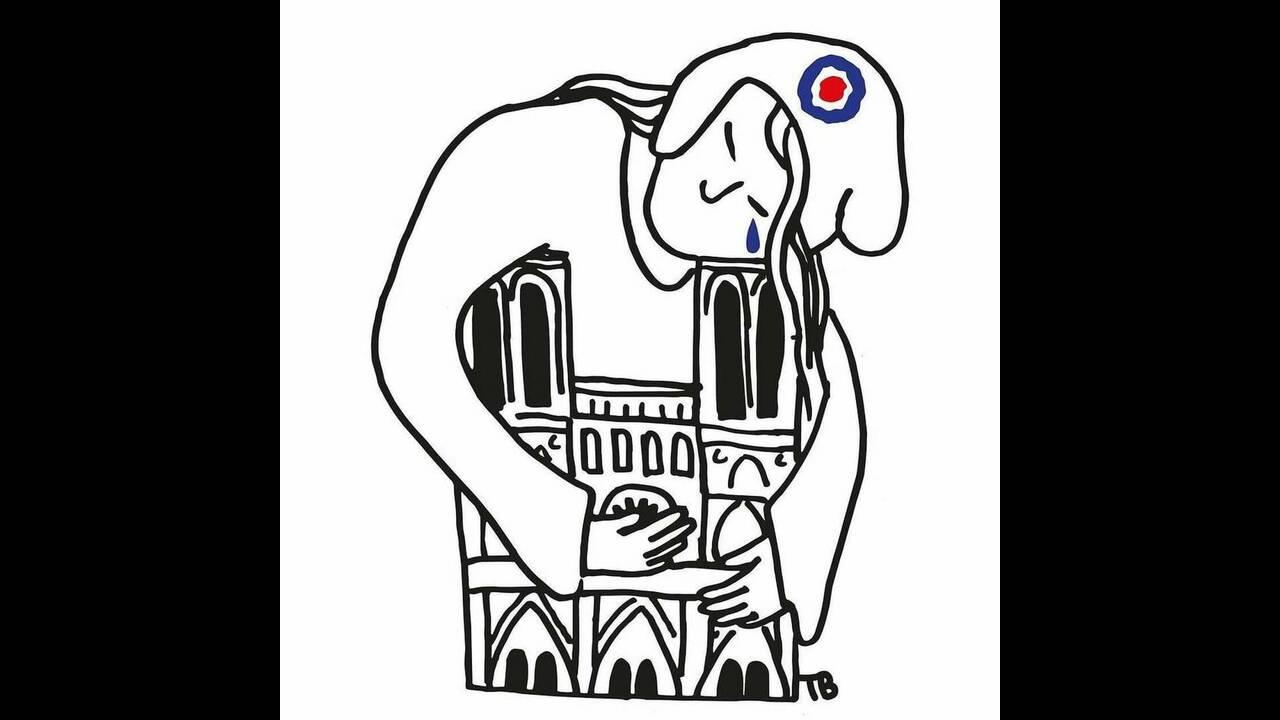 Τα δάκρυα του Κουασιμόδου για την Παναγία των Παρισίων. Συγκλονιστικά σκίτσα από την καταστροφή
