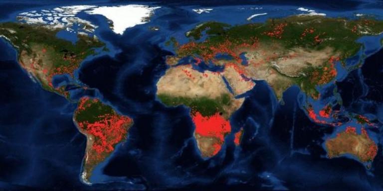 Στις φλόγες η Κεντρική Αφρική - Πυρκαγιές μεγαλύτερες από τον Αμαζόνιο