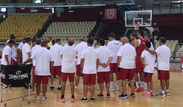 Με παίκτες Euroleague, A2 και βοηθητικούς η πρώτη του Ολυμπιακού