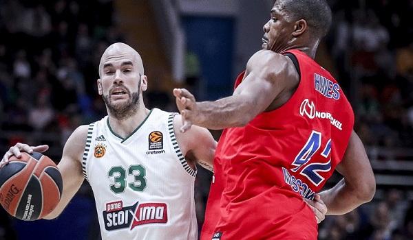 Ο  Παναθηναϊκός νίκησε με  78-77 την ΤΣΣΚΑ