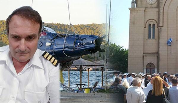 Θρήνος στην κηδεία του πιλότου από την τραγωδία με το ελικόπτερο στον Πόρο