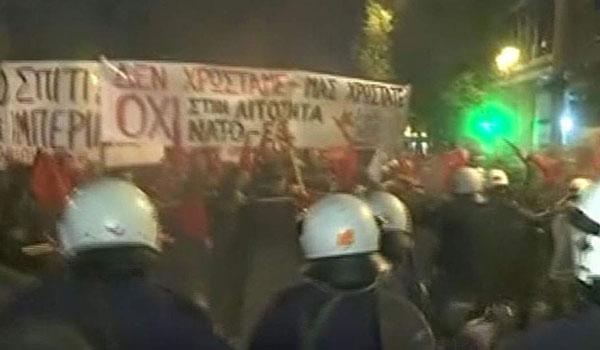 Επεισόδια στην Αθήνα για την επίσκεψη Μέρκελ