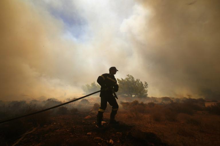 Ξέσπασε πυρκαγιά σε χαράδρα της Αργολίδας