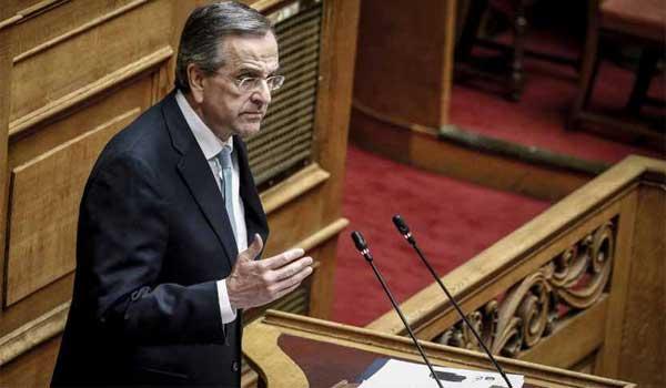 Σαμαράς σε βουλευτή ΣΥΡΙΖΑ: Αν είσαι άντρας ξαναπέστο. Bίντεο