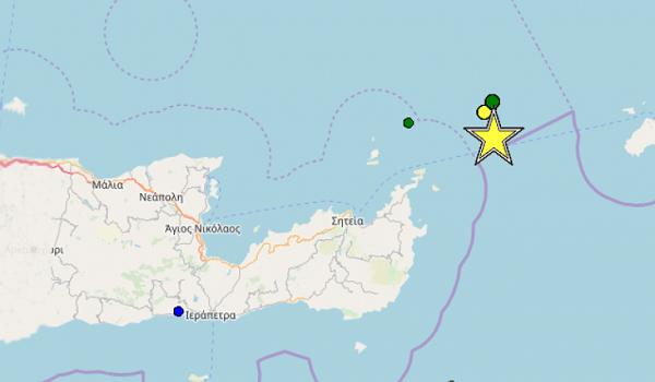 Ισχυρός σεισμός 5,3 Ριχτερ ταρακούνησαν την Κρήτη - Ευθ.Λέκκας: Παρακολουθούμε το φαινόμενο