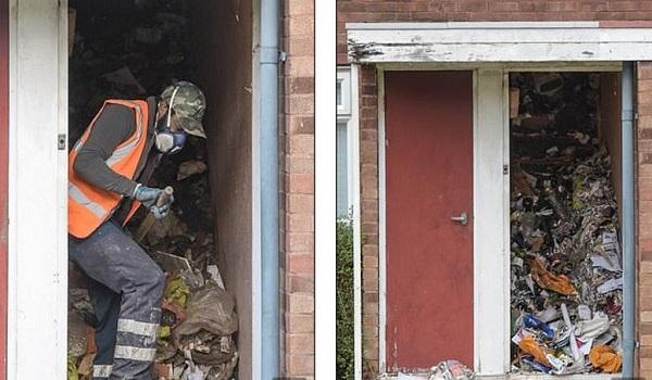 Βρέθηκε νεκρός  στο σπίτι του μέσα σε τόνους σκουπίδια